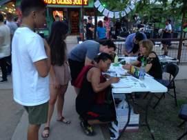 Getting those signatures!